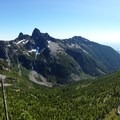 Cresting the pass through Taylor Meadows opens up views of the Lions.- Howe Sound Crest Trail