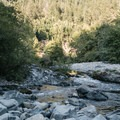 The confluence of Patrick's Creek and the Smith River.- Patricks Creek Interpretive Trail
