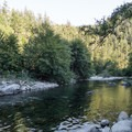 The Smith River as seen from the confluence.- Patricks Creek Interpretive Trail