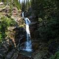 Several falls along the trail.- Iceberg Lake