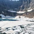 Close-up of the icebergs.- Iceberg Lake