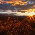 Sunset from the trail near Vista Point.- Owls Creek Pass + Silver Jack Reservoir