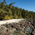 A small beach area along the way.- Coast Trail: Aylard Farm to Beechey Head