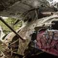The plane has been getting more and more colourful over the years.- Canso Plane Crash Hike