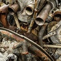The remains of an old jet engine.- Canso Plane Crash Hike