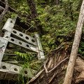 After passing the bomb crater you'll start to see fragments of plane debris.- Canso Plane Crash Hike