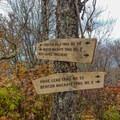 Intersection for Stratton Bald.- Joyce Kilmer-Slickrock Wilderness Loop