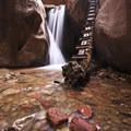 Kanarraville Falls along the Kanarra Creek Trail.- Kanarra Creek Trail to Kanarraville Falls