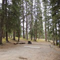Spacious campsite at Little Molas Campground.- Little Molas Campground