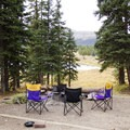 Most sites at Little Molas Campground overlook Little Molas Lake.- Little Molas Campground