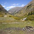 Dispersed campsite in Cunningham Gulch.- Cunningham Gulch