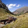 Abandoned pickup truck in Cunningham Gulch.- Cunningham Gulch