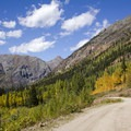 The road leading from Cunningham Gulch.- Cunningham Gulch
