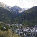 Views over Telluride and Town Park from the Jud Wiebe Trail.- Jud Wiebe Trail