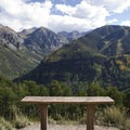 An ideal spot to take in the views along the Jud Wiebe Trail.- Jud Wiebe Trail