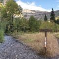 The Stewart Falls Trailhead.- Stewart Falls Trail