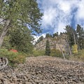 The rock slide section of the trail indicates you are getting close.- Stewart Falls Trail