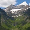 Stewart Falls from the air.- Stewart Falls Trail