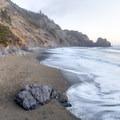 Enderts Beach just after sunset.- Enderts Beach