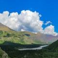Bullhead Lake and Swiftcurrent Valley.- Bullhead Lake