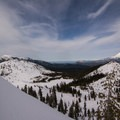 Impressive views from Middle Peak.- Middle Peak Snowshoe