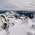 The north face of Castle Crags.- Middle Peak Snowshoe