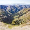 Looking west over the Chicago Basin from Windom Peak in the Weminuche Wilderness.- Windom Peak