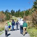 Crowds heading up the trail to Clingmans Dome.- Clingmans Dome