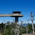 The observation tower atop Clingmans Dome.- Clingmans Dome