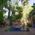 The entrance courtyard at Jardin Majorelle.- Jardin Majorelle