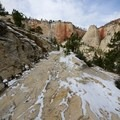 The trail winds through Behunin Canyon on its way to the main canyon.- West Rim Trail, Lava Point to Zion Canyon