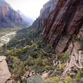 Unbelievable views as the trail enters the main canyon.- West Rim Trail, Lava Point to Zion Canyon