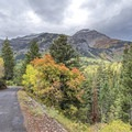 The view west toward the Timpanogos Cave National Monument.- Alpine Loop Scenic Drive