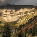 Looking up toward the north cirque of Mount Timpanogos.- Alpine Loop Scenic Drive