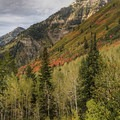 The northern edge of Mount Timpanogos.- Alpine Loop Scenic Drive
