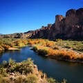 View of the Salt River from Water Users Camp Circle area.- Lower Salt River: Water Users Camp Circle to Granite Reef