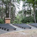 Amphitheater in the back of the campground.- Harris Beach State Park Campground