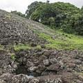 The Heiau with the freshwater spring below.- The Ulupo Heiau State Historical Site