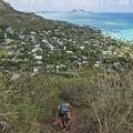 The first ascent up the Lanikai Pillbox Trail is quite steep.- Lanikai Pillbox Trail to Ka'Iwa Ridge