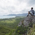 Taking in the view along the Lanikai Pillbox Trail.- Lanikai Pillbox Trail to Ka'Iwa Ridge
