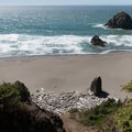 Looking down to the last part of the trail.- Thomas Creek Beach