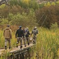 Footpaths above the marsh are provided for the fisherman.- Middle Provo River