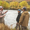 Setting up the rods along the Middle Provo River.- Middle Provo River