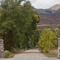 Entrance to the Cottonwood Access.- Middle Provo River
