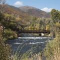 The beautiful bridge of River Road.- Middle Provo River