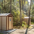 Toilet facilities at French Beach Provincial Park.- French Beach