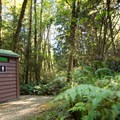 Pit toilets only.- French Beach Campground