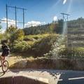Entering the Hartland Mountain Bike Trails.- Hartland Mountain Bike Trails