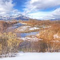 Charleston Access in the winter.- Middle Provo River