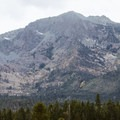 Mount Tallac towering above the south lake.- Tallac Point + Kiva Beach